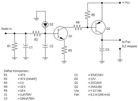 skema pemasangan kapasitor kipas angin rangkaian elektronica pengontrol kipas angin pendingin audio power lifier
