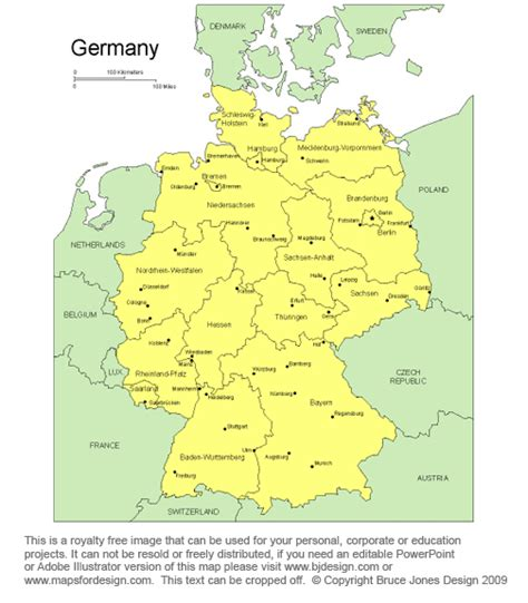 free map of germany germany map cities