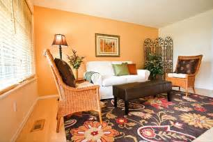 Occasional Living Room Chairs Design Ideas Impressive Living Room Decor Ideas With Orange Accent Wall Colors And Rattan Chairs Also Pretty