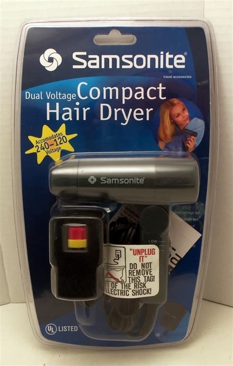 Hair Dryer Travel Size samsonite compact hair dryer small travel size new