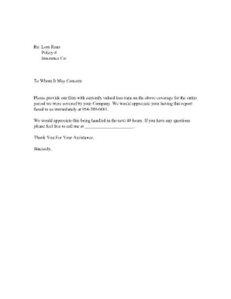 Loss Run Report Request Letter fillable loss run request tmk risk fax email