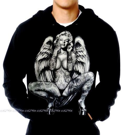 Hoodie Marilyn 02 1 new marilyn wings hoodie sweatshirt sweater kush ebay