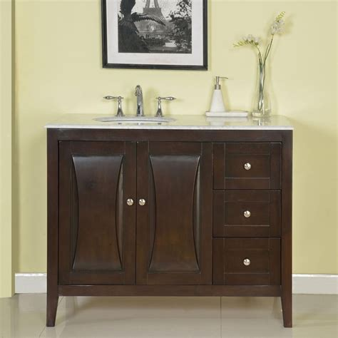 45 Inch Bathroom Vanity 45 Inch Modern Single Bathroom Vanity With A Carrara White Marble Counter Top Uvsr0269wm45
