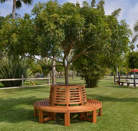 wood tree bench outdoor wood tree bench forever redwood