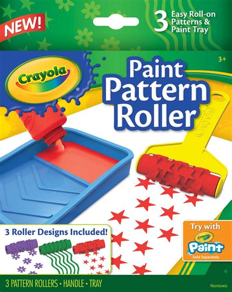 pattern paint roller manufacturers amazon com crayola paint pattern roller toys games