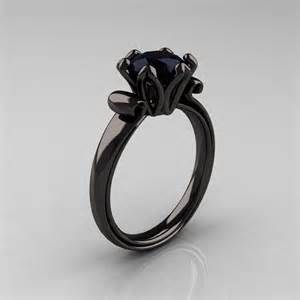 18k black gold 1 5 ct black diamond engagement ring ar127 18kbgbd