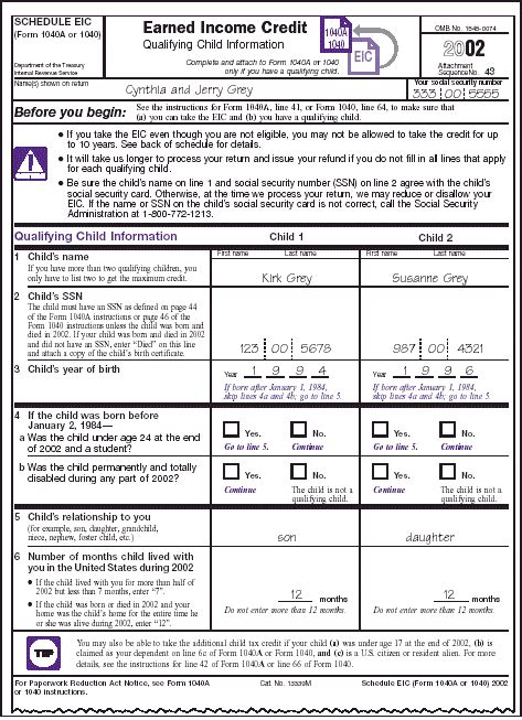 Earned Income Credit Tax Forms Publication 596 Earned Income Credit Eic Earned Income Credit Eic