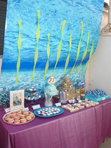under the sea candy table 20 best images about erin s mermaid party on pinterest