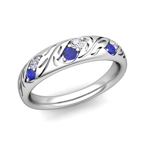 custom vintage wedding band anniversary ring for