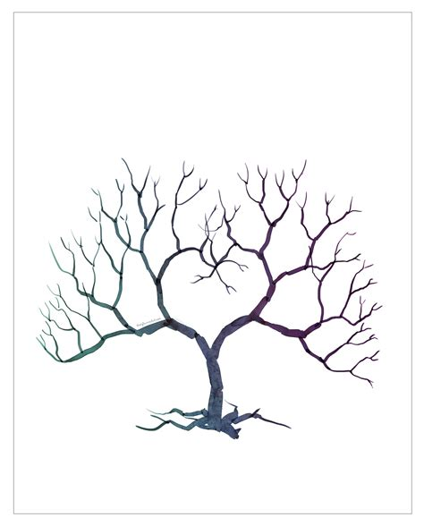 Tree Fingerprint Template family tree template family tree thumbprint template