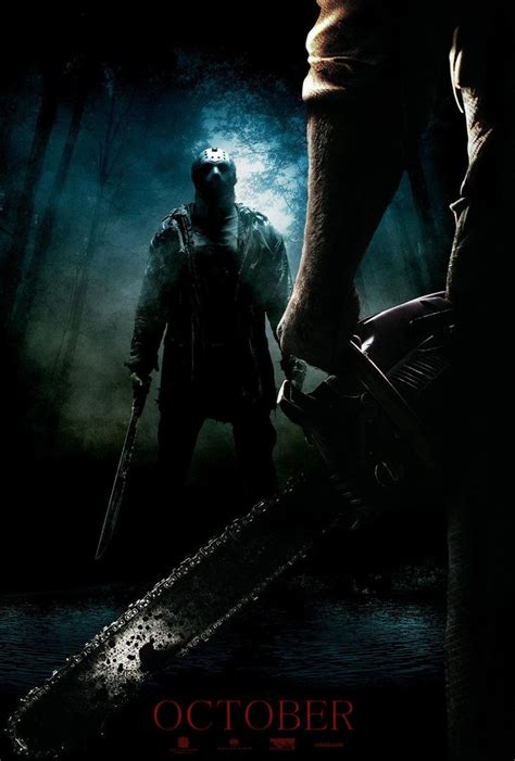 film lawas friday 13th jason vs leatherface poster i made for a jason vs