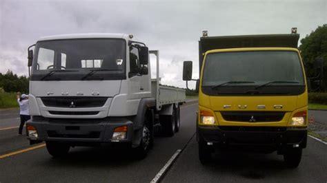 mitsubishi truck indonesia dua unggulan terbaru mitsubishi truk fuso untuk indonesia