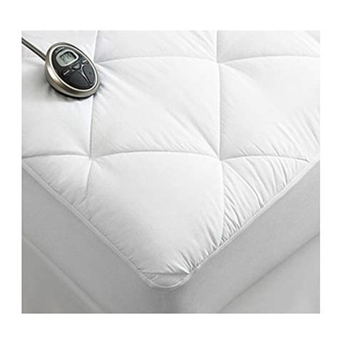 Size Heated Mattress Pad by Sunbeam Premium Luxury Quilted Electric Heated Mattress