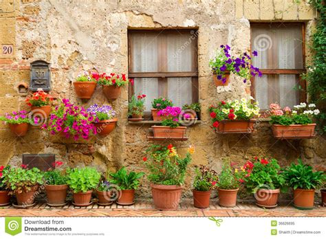 Rural House Plans beautiful street decorated with flowers in italy royalty