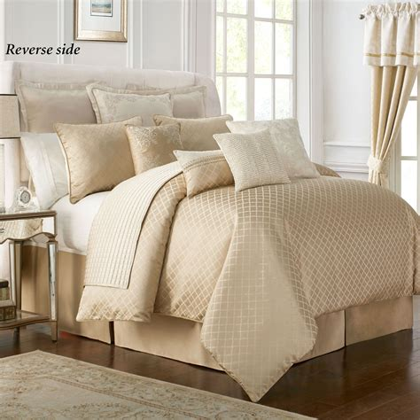 cream and gold bedding britt gold and cream comforter bedding from waterford linens
