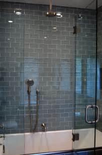 bathroom glass tile ideas lush 3x6 fog bank glass subway tile bathroom remodel pinterest