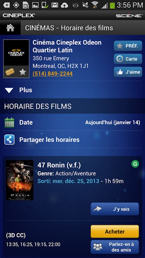 cineplex mobile cineplex mobile applications android sur google play