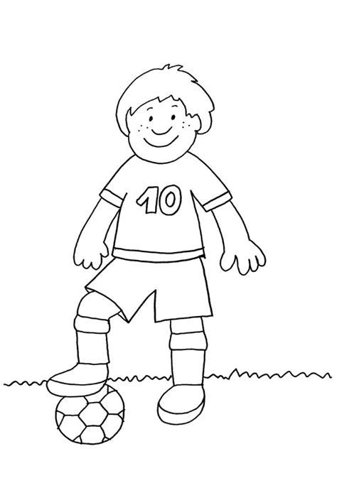 imagenes de niños jugando futbol para dibujar jugador de f 250 tbol dibujo para colorear e imprimir