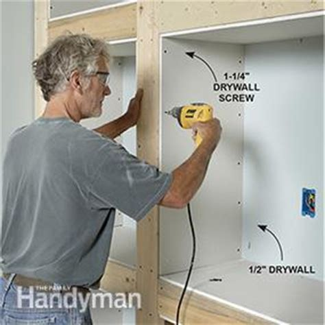 showcase built in bookcase plans family handyman