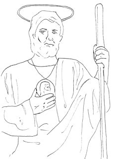 saint jude coloring page coloring pages