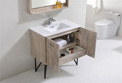 quartz bathroom vanity bosco 36 quot modern bathroom vanity w quartz countertop and