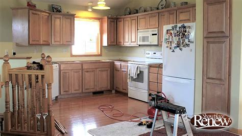 how to renew kitchen cabinets how to remodel a full kitchen in 2 1 2 days with renew