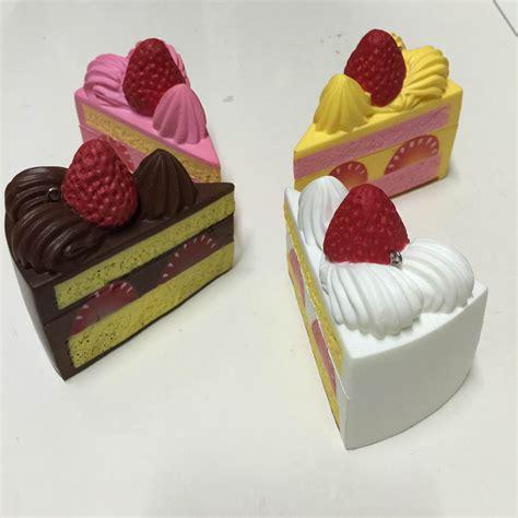 Kiibru Pink Slice Cake Squishy squishystuff soft cake slice squishy mascot store powered by storenvy