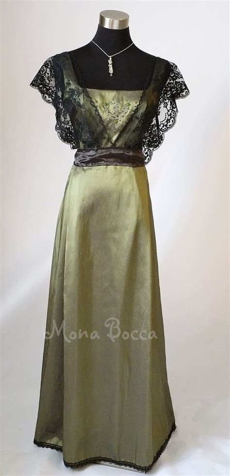 Handmade In Uk - edwardian dress olive green handmade to order in