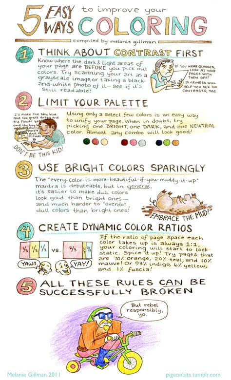 coloring book tips a handout i made for a coloring workshop i m