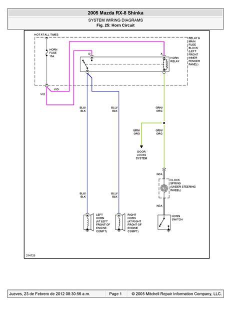 rx8 wiring diagram rx8 fuel tank wiring diagrams
