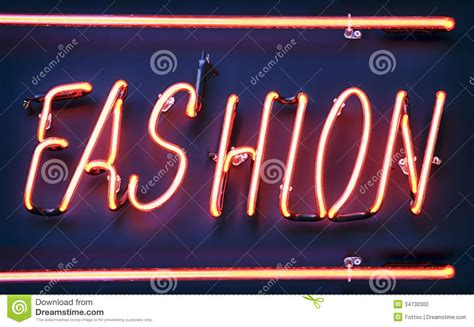 Contemporary Architecture Design by Neon Sign For Fashion Stock Photography Image 34730302