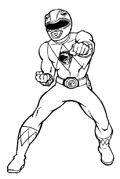 mighty morphin power rangers coloring pages coloring home