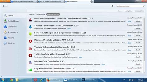 download youtube addon cara download video youtube tanpa menggunakan software dan