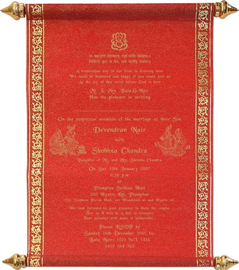 hindu wedding invitation templates hindu printed sles