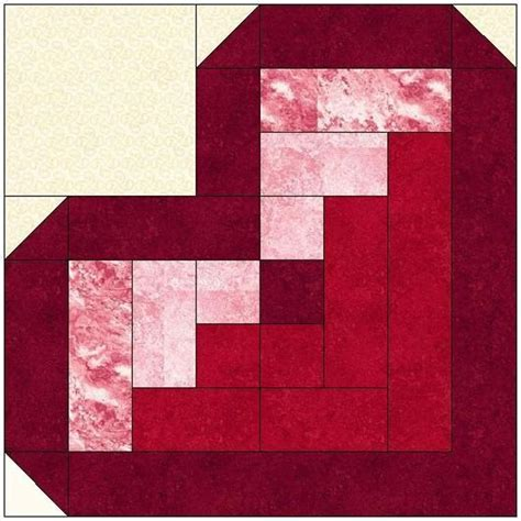 Pattern For Log Cabin Heart Quilt | replicate this quilt from your stash quilting digest