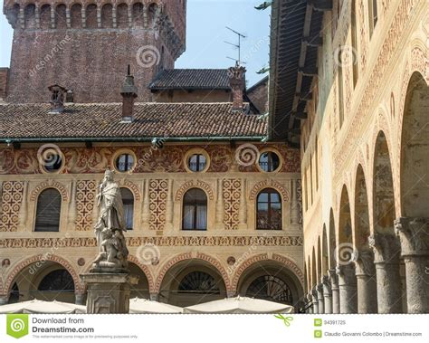 prink pavia vigevano piazza ducale stock image image of color