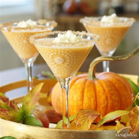 pumpkin martini recipe pumpkin pie martini sand and sisal