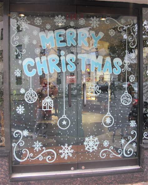 Weihnachtsdeko Fenster Kreidemarker by Winter Window Painting Painting From