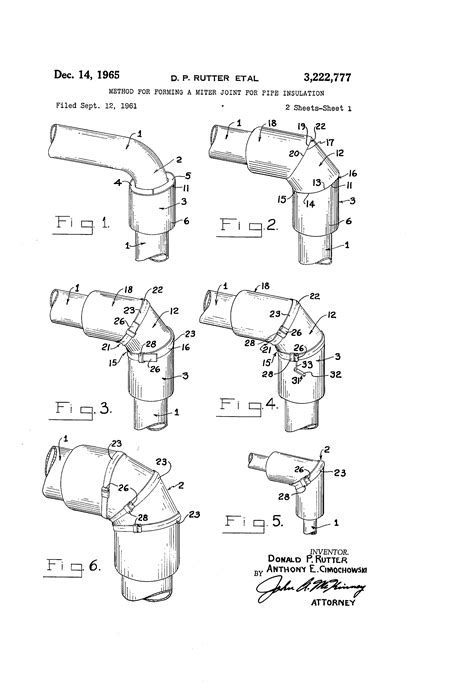 Patent US3222777 - Method for forming a miter joint for