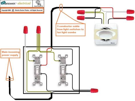 Wiring Bathroom Fan And Light Bathroom Fan With Light Wiring Diagram Tciaffairs