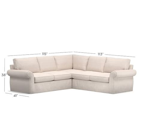 2 L Shaped Sectional by Pearce Slipcovered 2 L Shape Sectional Pottery Barn