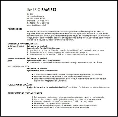 Exemple De Lettre De Motivation Football Cv Entraineur De Football Exemple Cv Entraineur De Football Livecareer