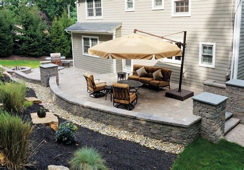 small concrete patio designs backyard patios design ideas cornerstone wall solutions