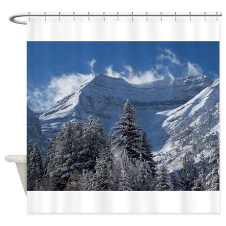 mountain shower curtain beautiful mountain scene shower curtain by musicalartworks