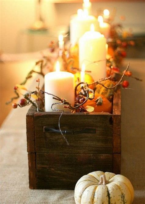 simple  easy thanksgiving centerpiece ideas  candles family holidaynetguide