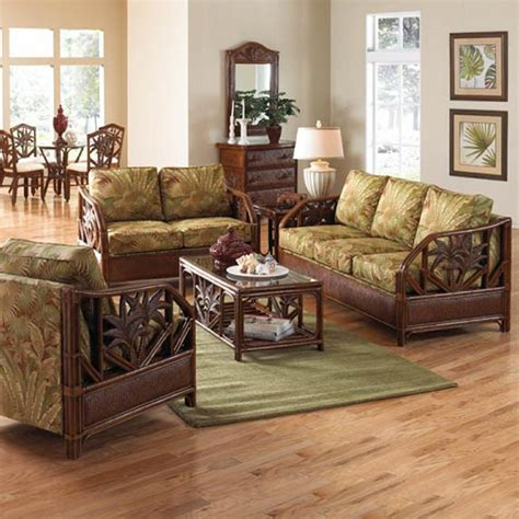 havana palm wicker indoor deep seating by panama jack family leisure family leisure