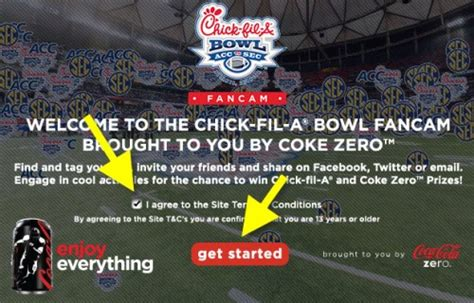 coke zero fan cam coke zero fancam fil a bowl sweepstakes cow locations