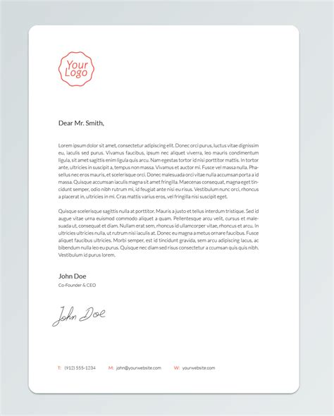 7 letter head psd images prospecting cover letter