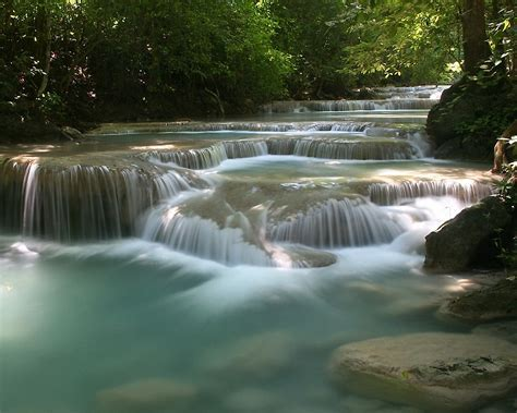 Erawan National Park 1280x1024 Wallpapers,Erawan Waterfall
