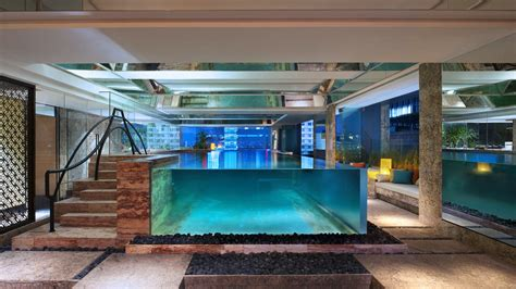 Glass Dining Room by Pristine Indoor Swimming Pool Keraton At The Plaza Jakarta